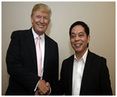 Ewen Chia and Donald Trump